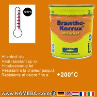 BRANTHO-KORRUX NITROFEST Korrosionsschutzlack RAL 2000 Gelborange 750 ml