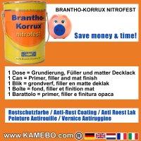 BRANTHO-KORRUX NITROFEST Korrosionsschutzlack RAL 2011 Tieforange 5 Liter