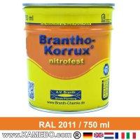 BRANTHO-KORRUX NITROFEST Korrosionsschutzlack RAL 2011 Tieforange 750 ml