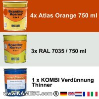 BRANTHO-KORRUX 3in1 Atlas Orange Baumaschinen Kit 1