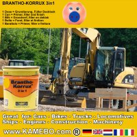 BRANTHO-KORRUX 3in1 Caterpillar Gelb Baumaschinen Kit 1