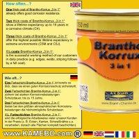BRANTHO-KORRUX 3in1 Caterpillar Gelb Baumaschinen Kit 1