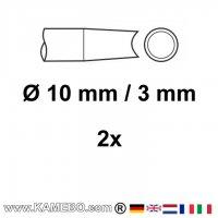 CHICAGO PNEUMATIC Nietmeißel Ø 10,2 mm / 3 mm 2 Stück