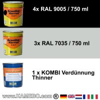BRANTHO-KORRUX 3in1 RAL 9005 RAL 7035 Kit 1