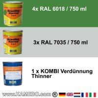 BRANTHO-KORRUX 3in1 RAL 6018 RAL 7035 Kit 1