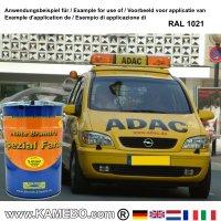 BRANTH's S-GLASUR Metall Schutzlack Hochglänzend RAL 1021 Rapsgelb / Gelb 5 Liter
