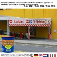 BRANTH's S-GLASUR Metall Schutzlack Hochglänzend RAL 1021 Rapsgelb / Gelb 750 ml