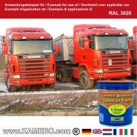 BRANTH's S-GLASUR Metall Schutzlack Hochglänzend RAL 3020 Verkehrsrot / Rot 750 ml