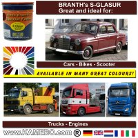 BRANTH's S-GLASUR Metall Schutzlack Hochglänzend MB 3575 Ochsenblut 750 ml