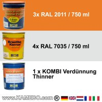 BRANTHO-KORRUX NITROFEST RAL 7035 S-GLASUR RAL 2011 Kit 1
