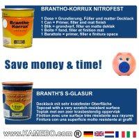 BRANTHO-KORRUX NITROFEST RAL 7035 S-GLASUR RAL 5010 Kit 1