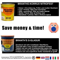 BRANTHO-KORRUX NITROFEST RAL 7035 S-GLASUR RAL 9005 Kit 1