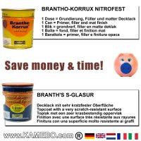 BRANTHO-KORRUX NITROFEST RAL 3009 S-GLASUR RAL 9010 Kit 1