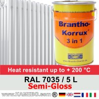 Heizkörperlack Seidenglänzend RAL 7035 Lichtgrau 5 Liter