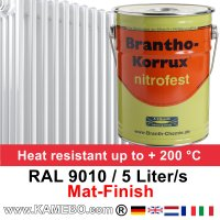 Heizkörperlack Matt RAL 9010 Weiß 5 Liter