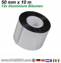 Aluminium Bitumen Reparaturband 50 mm x 10 m 12 Stück