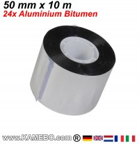 Aluminium Bitumen Reparaturband 50 mm x 10 m 24 Stück
