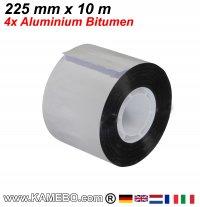 Aluminium Bitumen Reparaturband 225 mm x 10 m 4 Stück