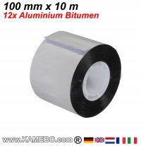 Aluminium Bitumen Reparaturband 100 mm x 10 m 12 Stück
