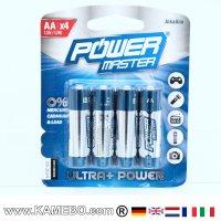 AA Batterien Power Master LR6, 4er Pckg.