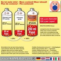 BRANTHO-KORRUX 3in1 Rostschutzlack RAL 7038 Spray Achatgrau 400 ml 6 Stück