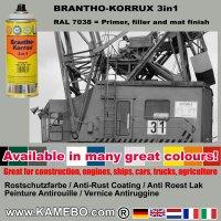 BRANTHO-KORRUX 3in1 Rostschutzlack RAL 7038 Spray Achatgrau 400 ml 12 Stück
