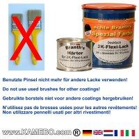 BRANTH's 2-K FLEXI LACK RAL 9005 Schwarz 625 Gramm