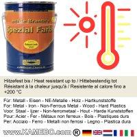 BRANTH's ROBUST LACK Metallschutzlack RAL 9001 Cremeweiß 5 Liter
