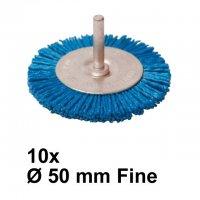 Nylon Rundbürste mit Spannstift Ø 50 mm Fein 10 Stück