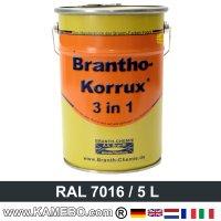brantho korrux 3in1 rostschutzlack ral 7016 anthrazitgrau 5 liter kamebo. Black Bedroom Furniture Sets. Home Design Ideas