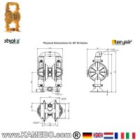 DP 50 ALB Druckluft Doppelmembranpumpe