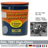 Traktorlack Hochglänzend RAL 7001 Silbergrau / Grau 750 ml