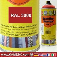 BRANTHO-KORRUX 3in1 Rostschutzlack RAL 3000 Spray Feuerrot / Siegelrot 400 ml