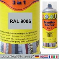 BRANTHO-KORRUX 3in1 Rostschutzlack RAL 9006 Spray Silberaluminium 400 ml