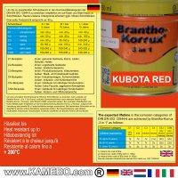 BRANTHO-KORRUX 3in1 Rostschutzlack Kubota Rot 750 ml