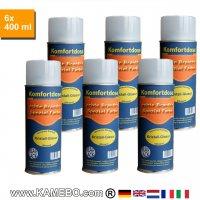 BRANTH's KRISTALL-GLASUR Klarlack Glänzend Komfortdose Spray 400 ml 6 Stück
