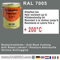 BRANTHO-KORRUX 3in1 Rostschutzfarbe RAL 7005 Mausgrau 5 Liter
