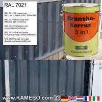 BRANTHO-KORRUX 3in1 Korrosionsschutzlack RAL 7021 Schwarzgrau 5 Liter