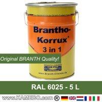 BRANTHO-KORRUX 3in1 Rostschutzfarbe RAL 6025 Farngrün 5 Liter