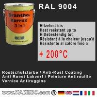 BRANTHO-KORRUX 3in1 Rostschutzfarbe RAL 9004 Signalschwarz 5 Liter