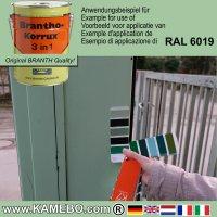 BRANTHO-KORRUX 3in1 Rostschutzfarbe RAL 6019 Weißgrün / Pastellgrün 5 Liter