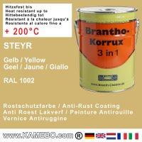 BRANTHO-KORRUX 3 in 1 Korrosionsschutzlack Steyr Gelb 5 Liter