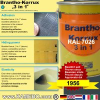 BRANTHO-KORRUX 3 in 1 Metaal Beschermingsverf RAL 7026 Granietgrijs 5 Liter