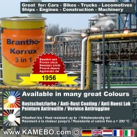 BRANTHO-KORRUX 3 in 1 Anti-Rust Coating RAL 7026 Granite grey 5 Litres