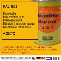 BRANTHO-KORRUX 3in1 Rostschutzlack RAL 1003 Signalgelb 5 Liter