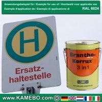 BRANTHO-KORRUX 3 in 1 Rostschutzfarbe für Metall RAL 6024 Verkehrsgrün 5 Liter