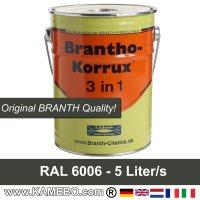 Rostschutzfarbe / Tarnfarbe RAL 6006 Feldgrau Nr. 3 Grauoliv 5 Liter