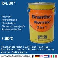 BRANTHO-KORRUX 3in1 Rostschutzfarbe RAL 5017 Verkehrsblau 5 Liter