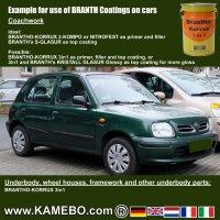 BRANTHO-KORRUX 3 in 1 Rostschutzfarbe / Tarnfarbe RAL 6031 Bronzegrün 5 Liter