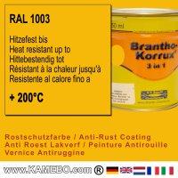 BRANTHO-KORRUX 3in1 Rostschutzlack RAL 1003 Signalgelb 750 ml